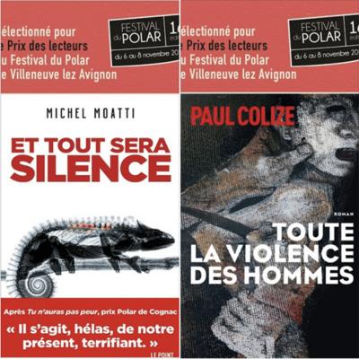 paul colize et michel moatti sélectionnés pour le prix des lecteurs du festival du polar de Villeneuve lez avignon