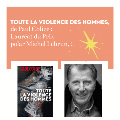 paul colize laureat du prix polar michel lebrun 2020