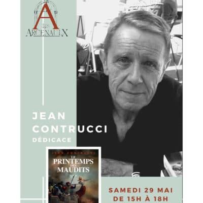 jean contrucci en signature a la librairie jeanne laffitte les arcenaulx marseille le 29 mai 2021